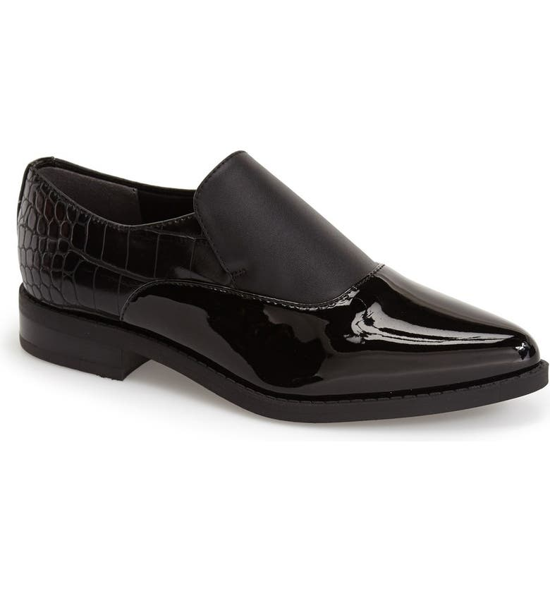 CIRCUS BY SAM EDELMAN 'Farrah' Pointy Toe Loafer, Main, color, Black