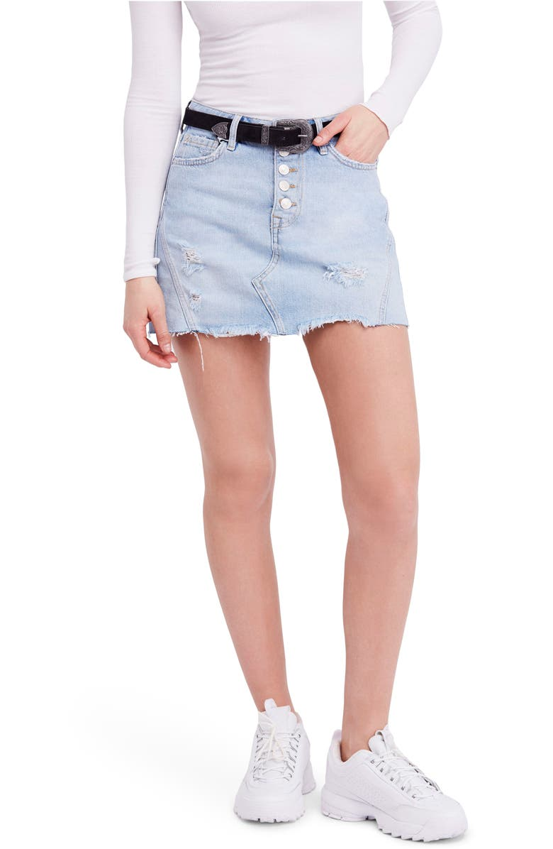 FREE PEOPLE We the Free by Free People Denim A-Line Skirt, Main, color, 456