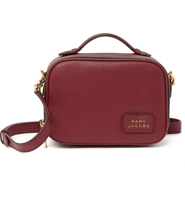 MARC JACOBS Deco Box Crossbody, Main, color, MULLED WINE