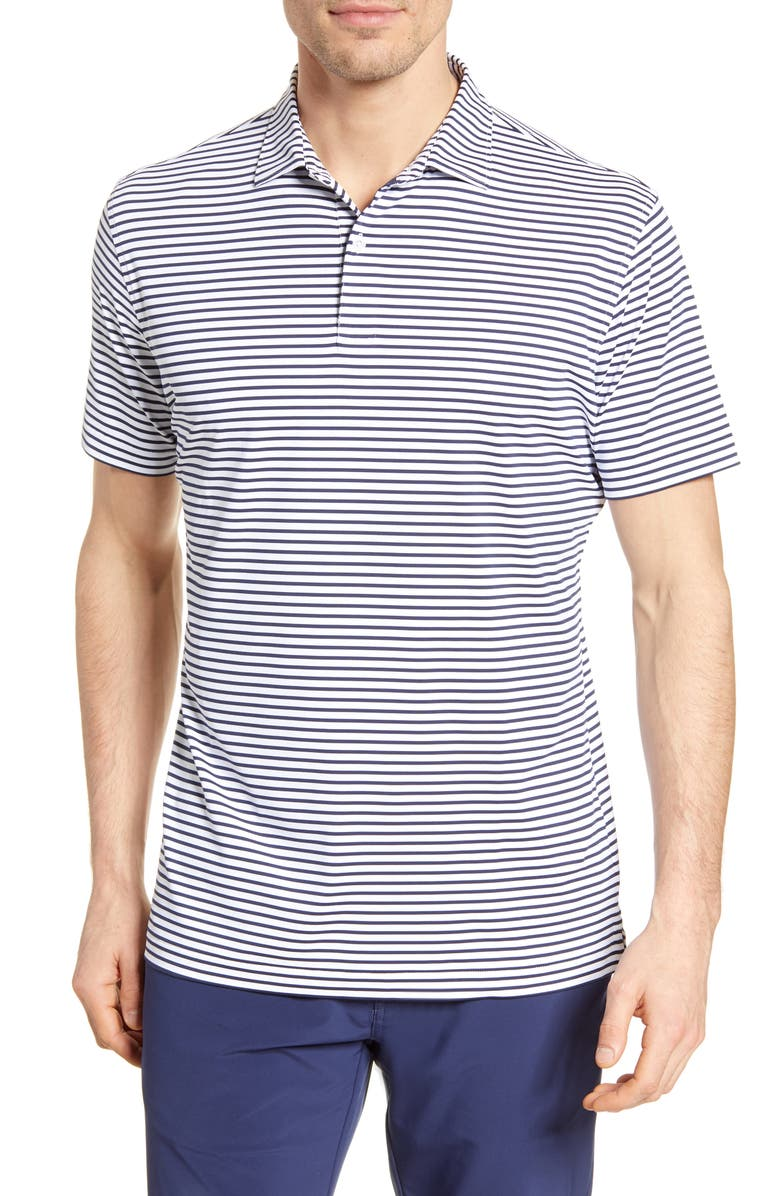 PETER MILLAR Miles Stripe Short Sleeve Stretch Jersey Polo, Main, color, 154