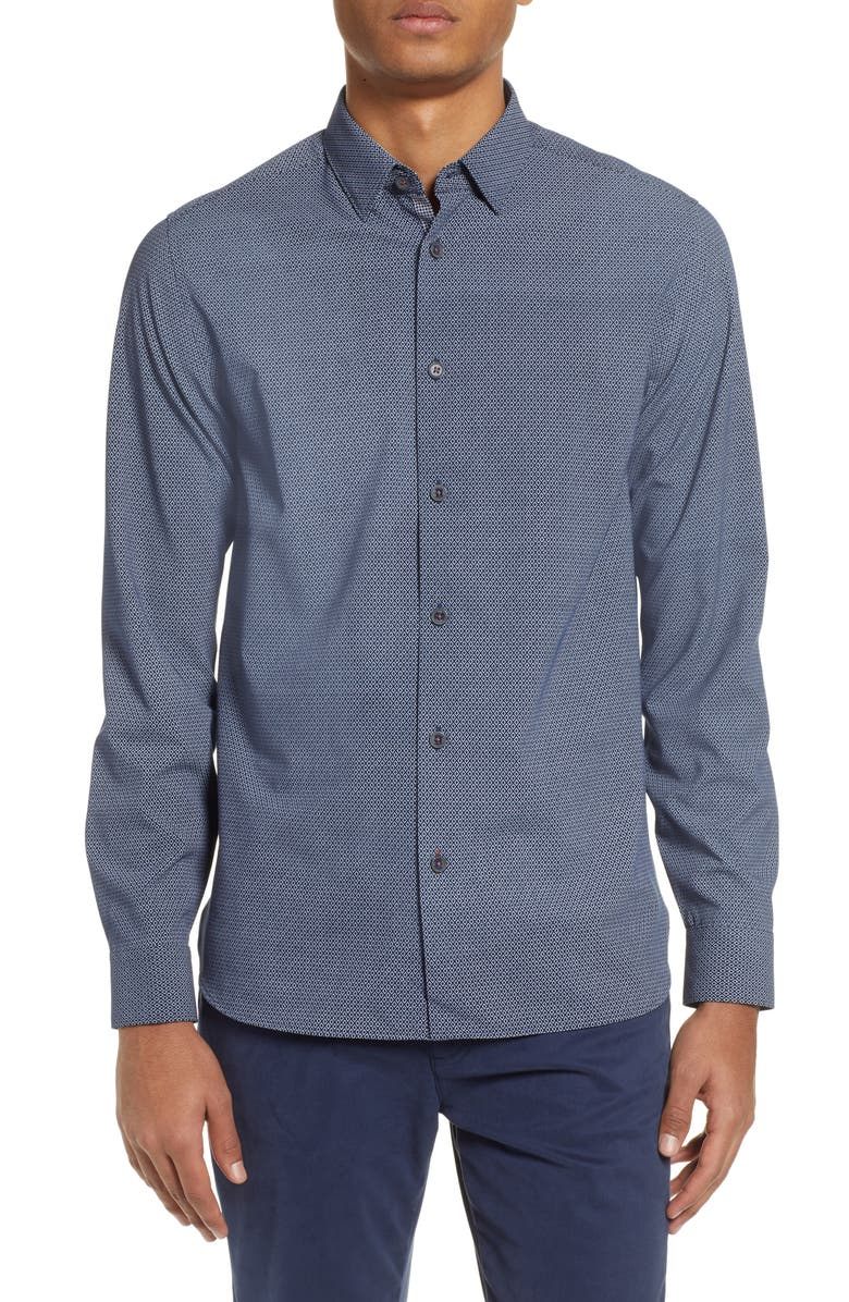 TED BAKER LONDON Calligr Slim Fit Sport Shirt, Main, color, 410