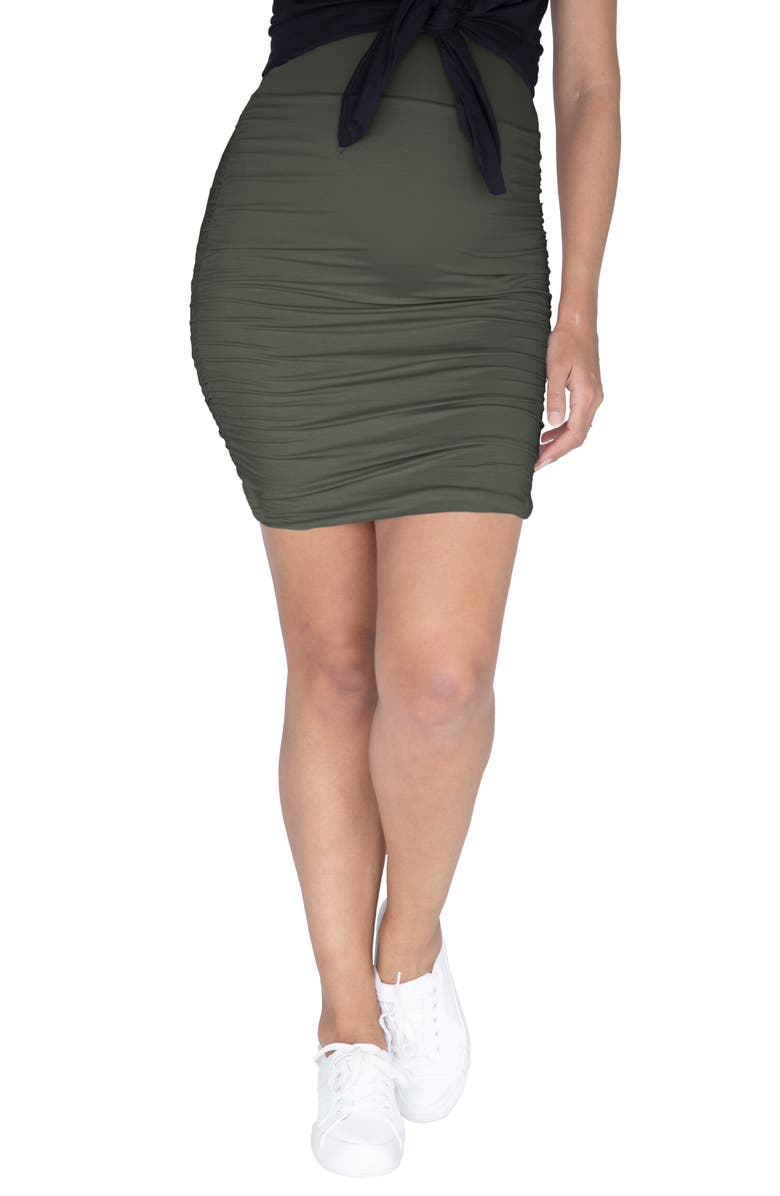 ANGEL MATERNITY Body-Con Maternity Skirt, Main, color, KHAKI