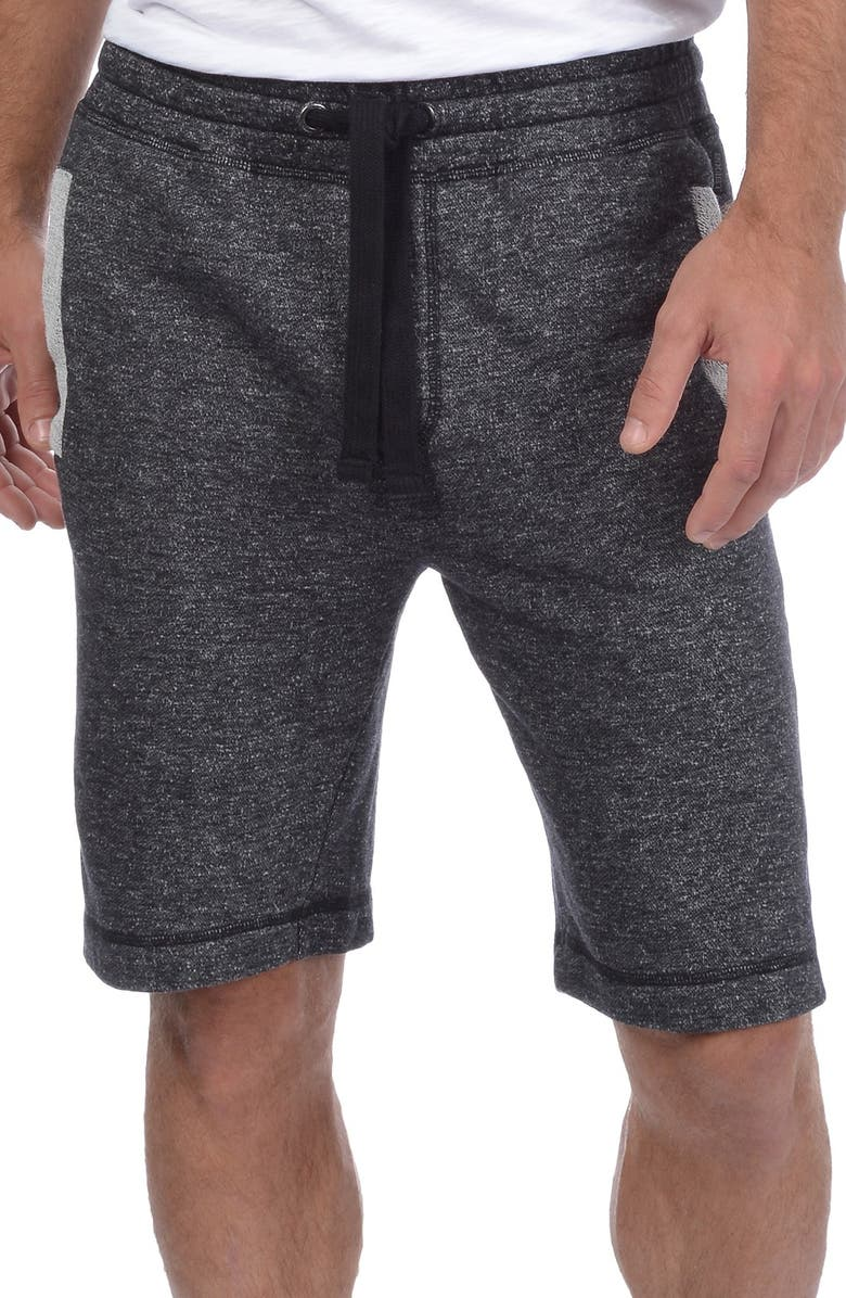2(X)IST Terry Shorts, Main, color, BLACK HEATHER