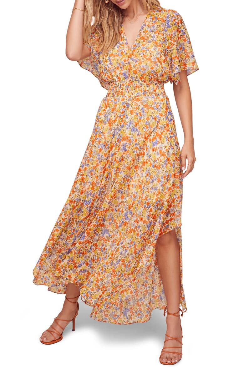 ASTR THE LABEL Sophronia Floral Print Maxi Dress, Main, color, 800