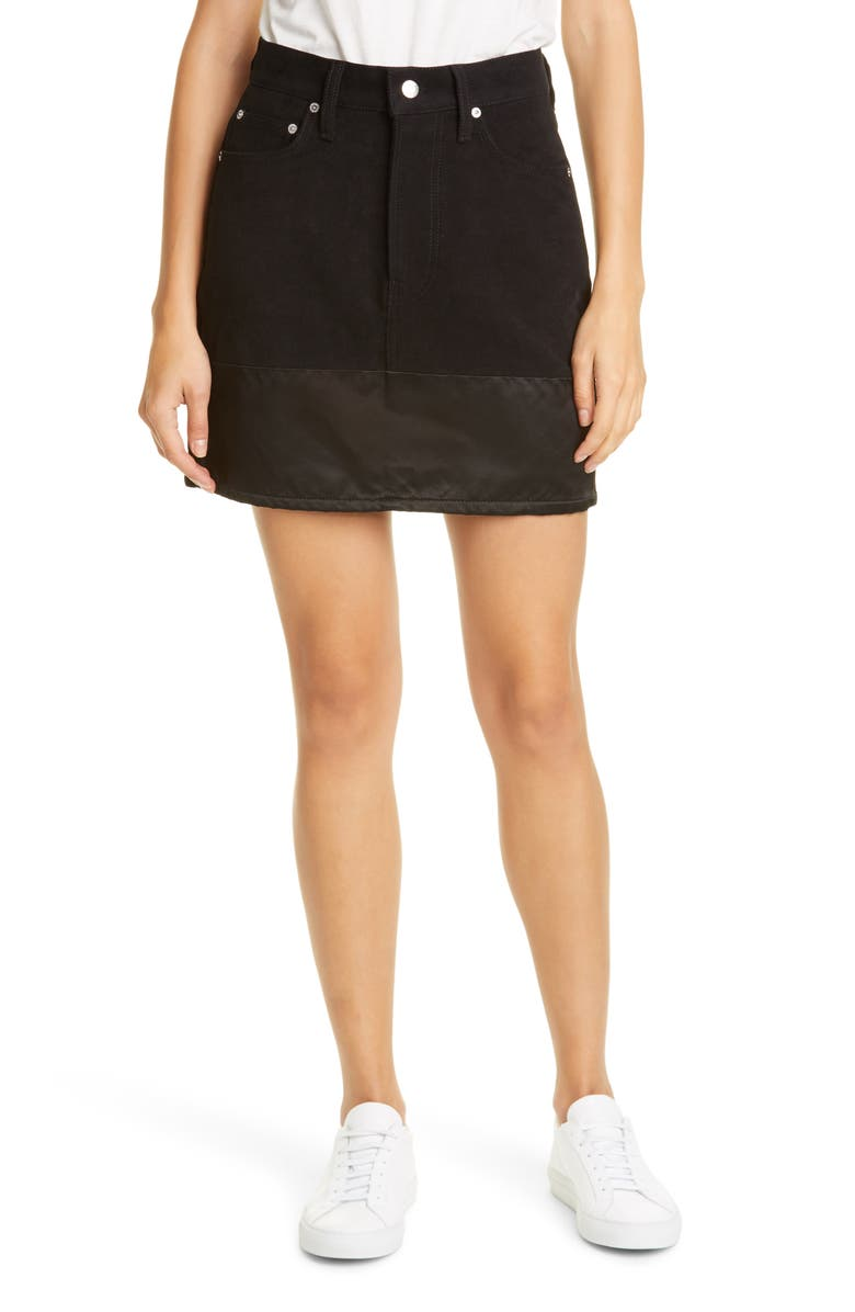 HELMUT LANG Femme Utility Denim Miniskirt, Main, color, 001