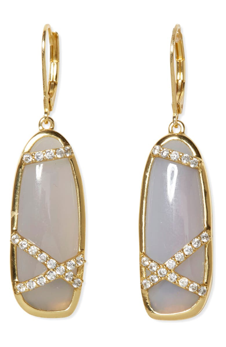SOLE SOCIETY Agate Drop Earrings, Main, color, 710