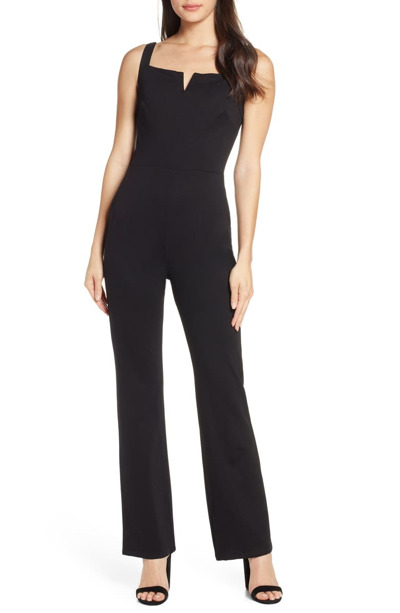 FRAICHE BY J Sleeveless Jumpsuit, Main, color, 001