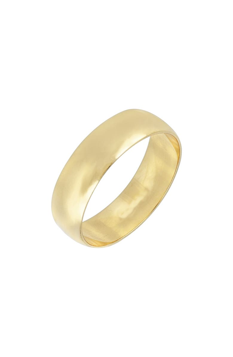 BONY LEVY 14K Gold Wedding Band Ring, 6mm, Main, color, YELLOW GOLD