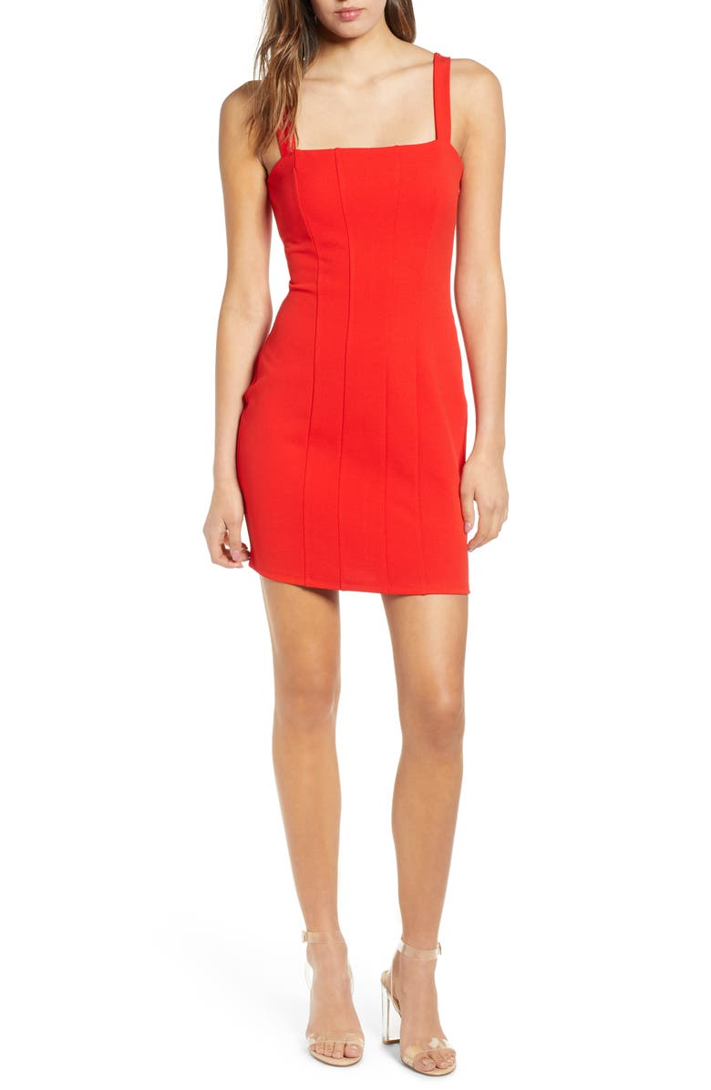 LEITH Seamed Body-Con Dress, Main, color, 610