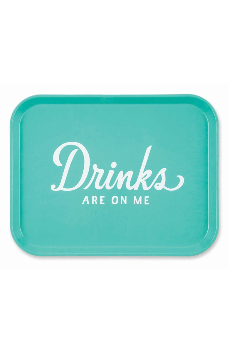 EASY, TIGER Drinks Are on Me Tray, Main, color, TEAL