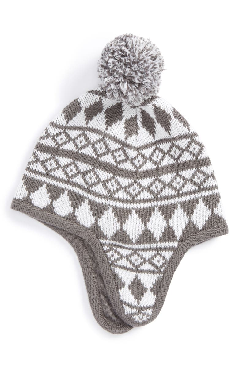 TUCKER + TATE Fair Isle Earflap Hat, Main, color, 021