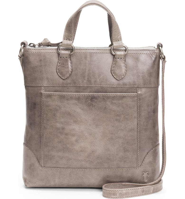 FRYE Melissa Small Leather Tote, Main, color, 020
