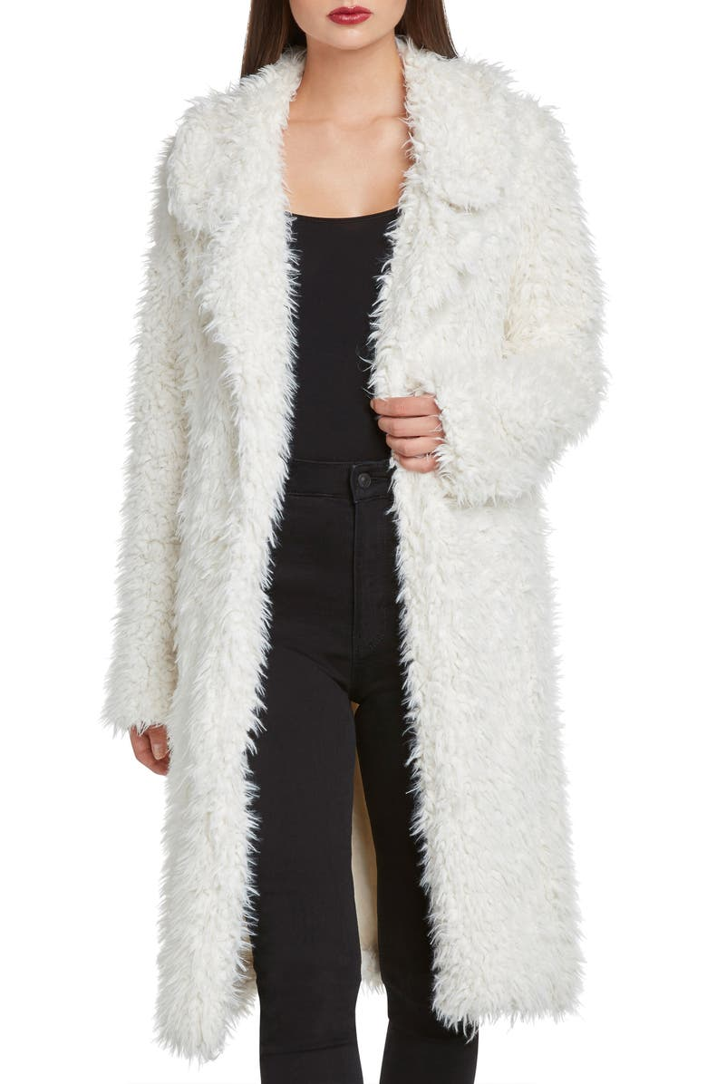 ZZDNU WILLOW & CLAY Willow & Clay Faux Fur Jacket, Main, color, IVORY