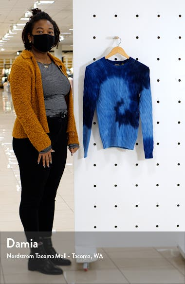 Tie Dye Cable Knit Sweater, sales video thumbnail