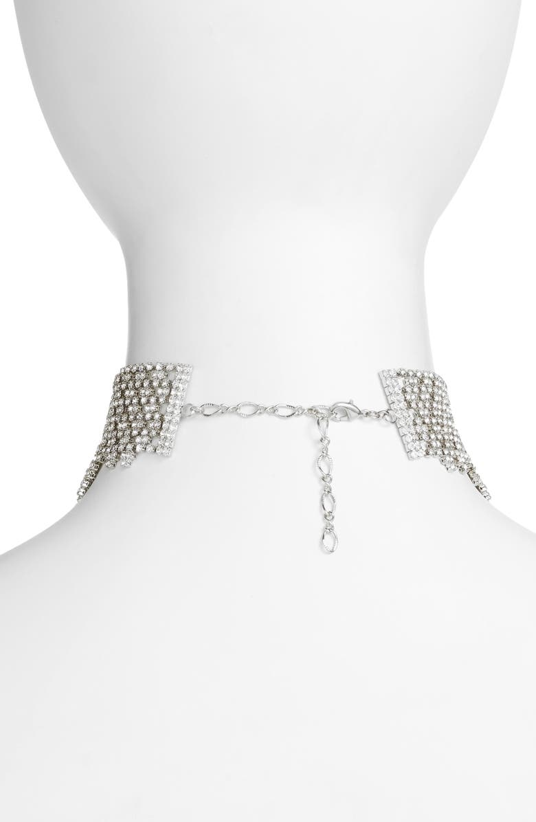 CRISTABELLE Graduated Crystal Choker, Main, color, CLEAR / SILVER