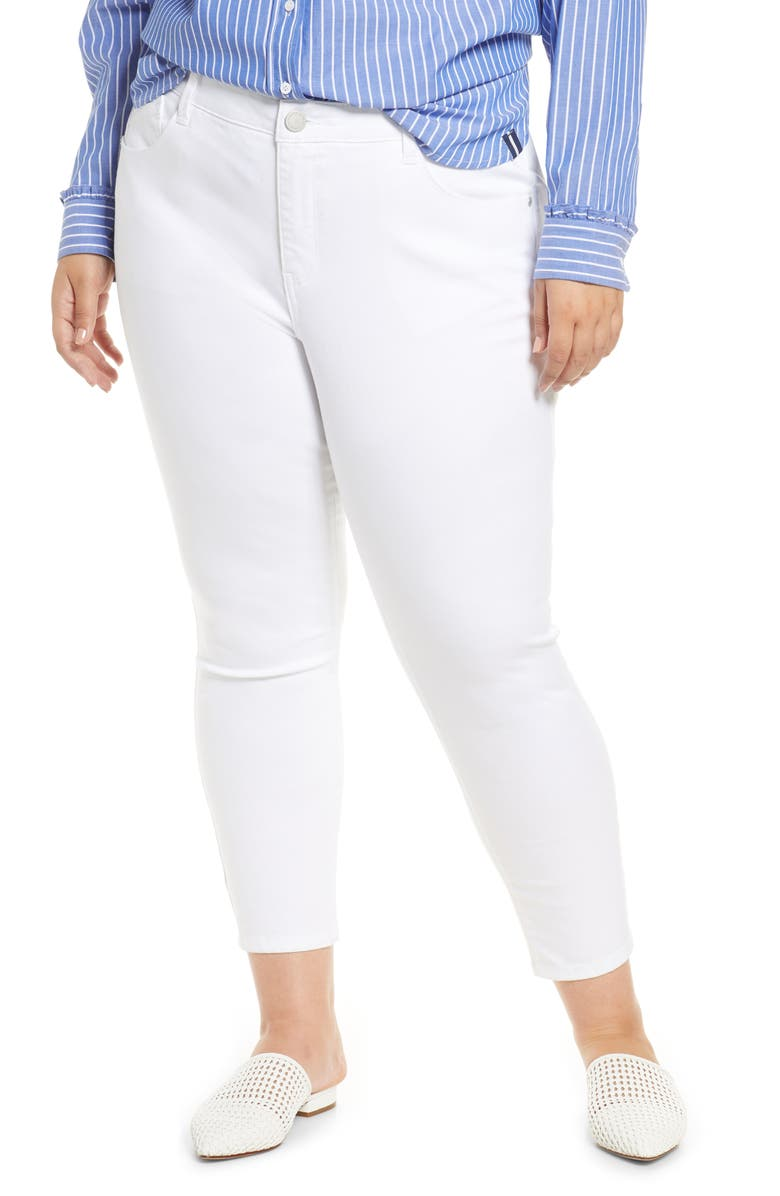 WIT & WISDOM Ab-Solution Skinny Jeans, Main, color, OPTIC WHITE