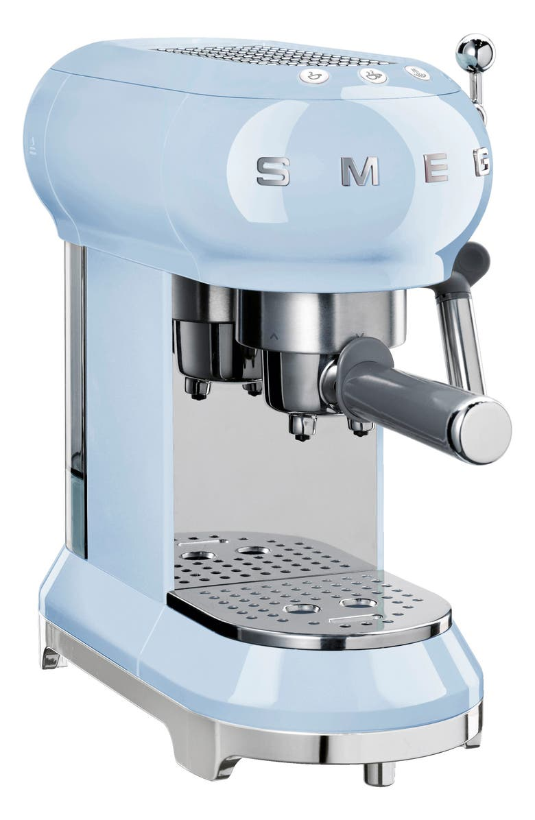SMEG '50s Retro Style Espresso Coffee Machine, Main, color, PASTEL BLUE