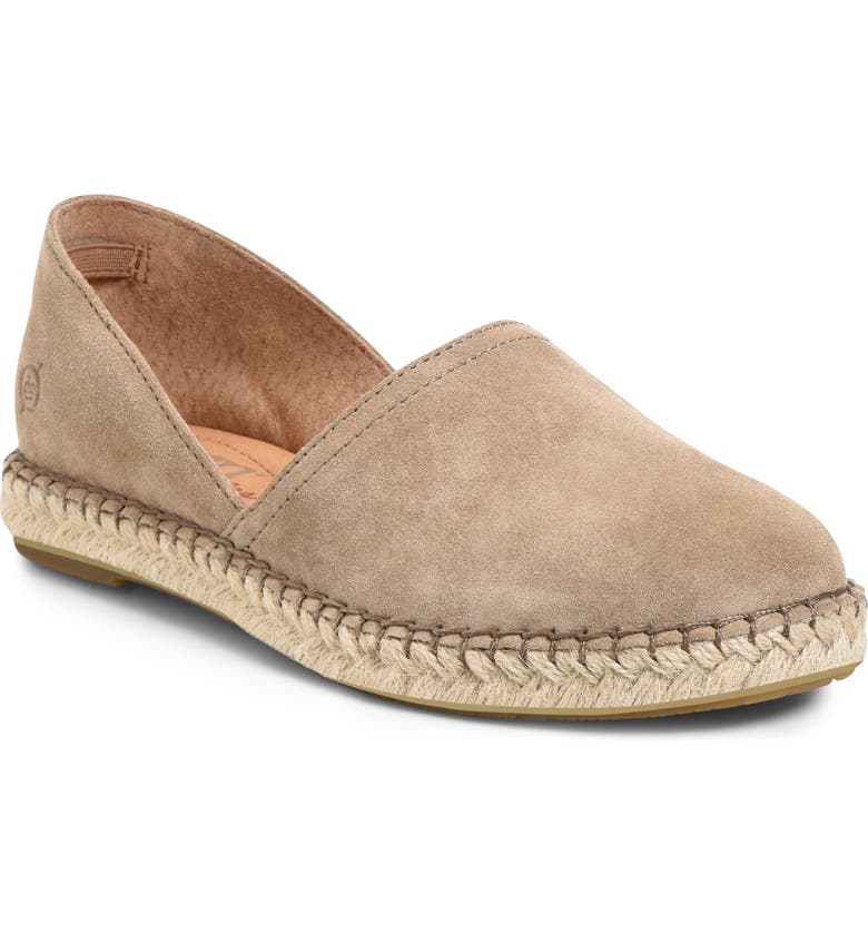 BØRN Stitch Espadrille Slip-On, Main, color, TAUPE SUEDE