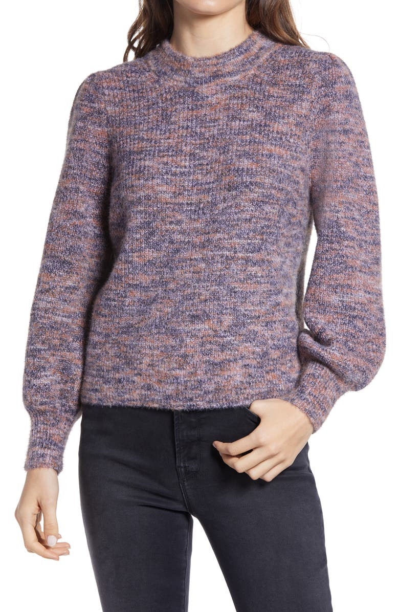 MADEWELL Eaton Space Dye Puff Sleeve Sweater, Main, color, 542