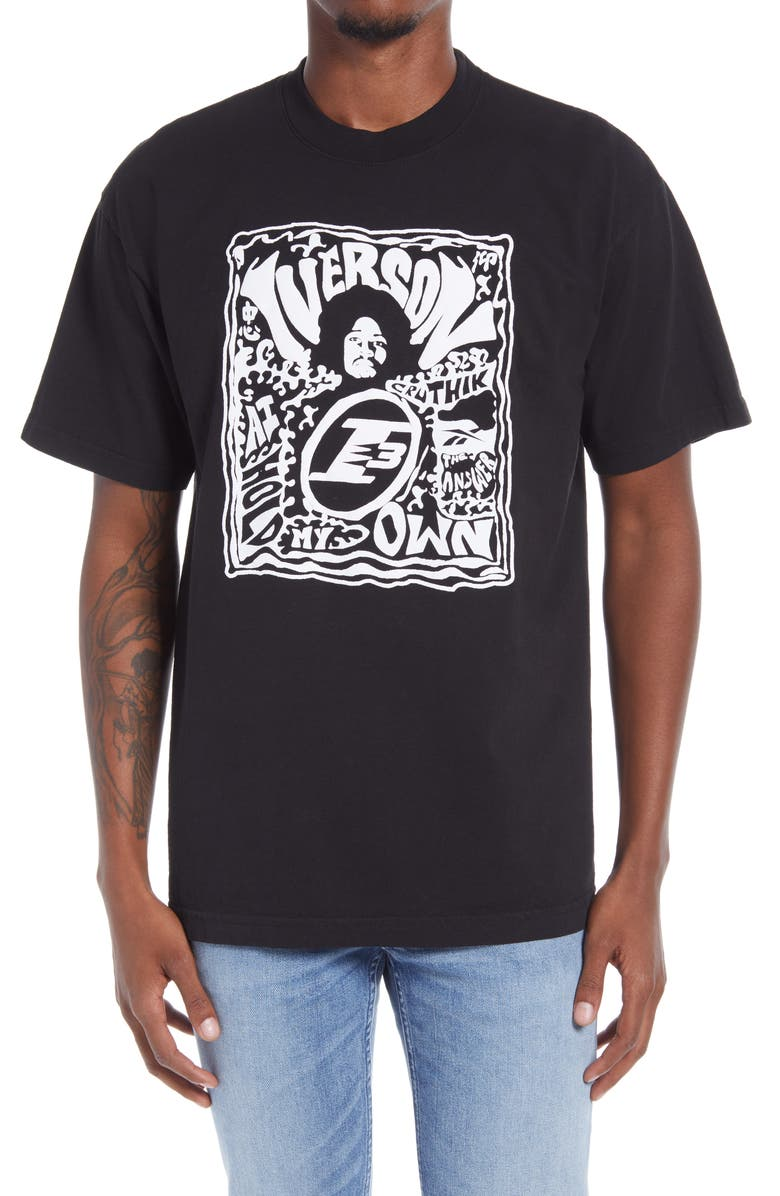 REEBOK x Allen Iverson Hold My Own Graphic Tee, Main, color, 001