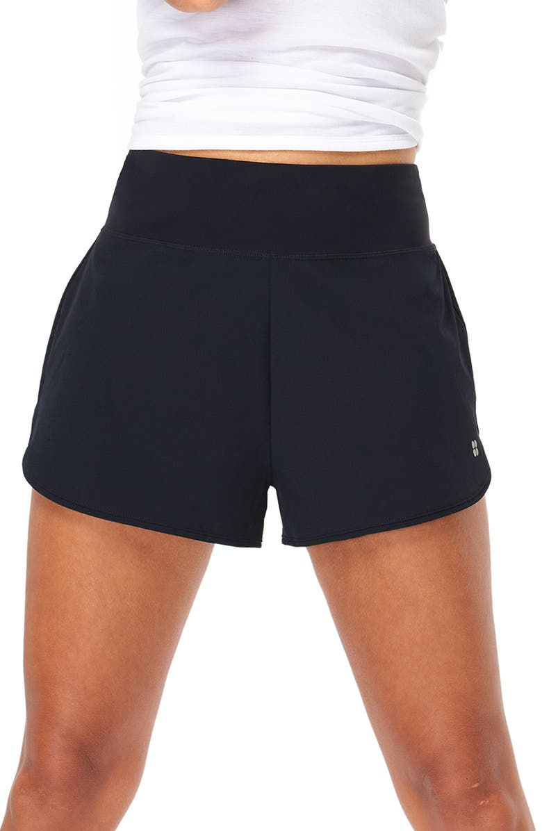 SWEATY BETTY Time Trial Running Shorts, Main, color, 001