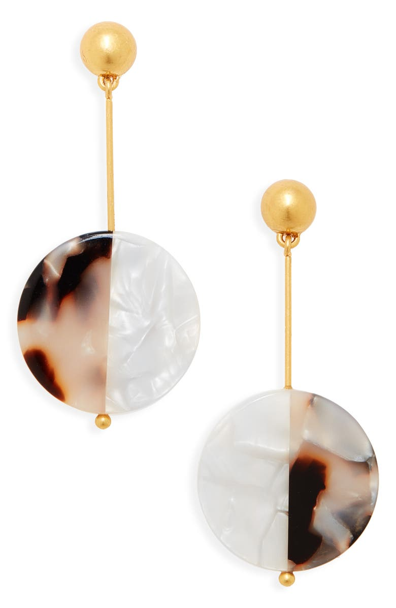 MADEWELL Acetate Disc Statement Earrings, Main, color, 231