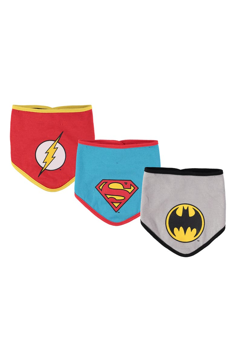 HAPPY THREADS Justice League Bib - Pack of 3, Main, color, MULTI
