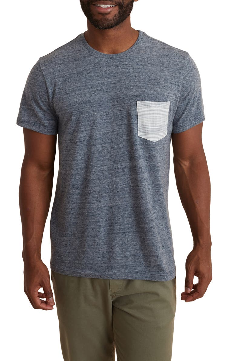 MARINE LAYER Men's Re-Spun Pocket T-Shirt, Main, color, DENIM NEPS