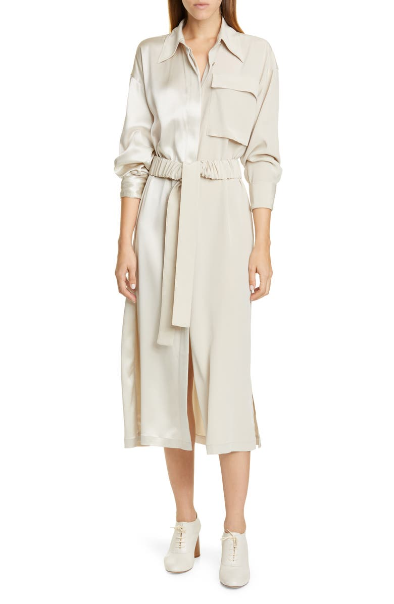 CO Split Front Long Sleeve Shirtdress, Main, color, 250