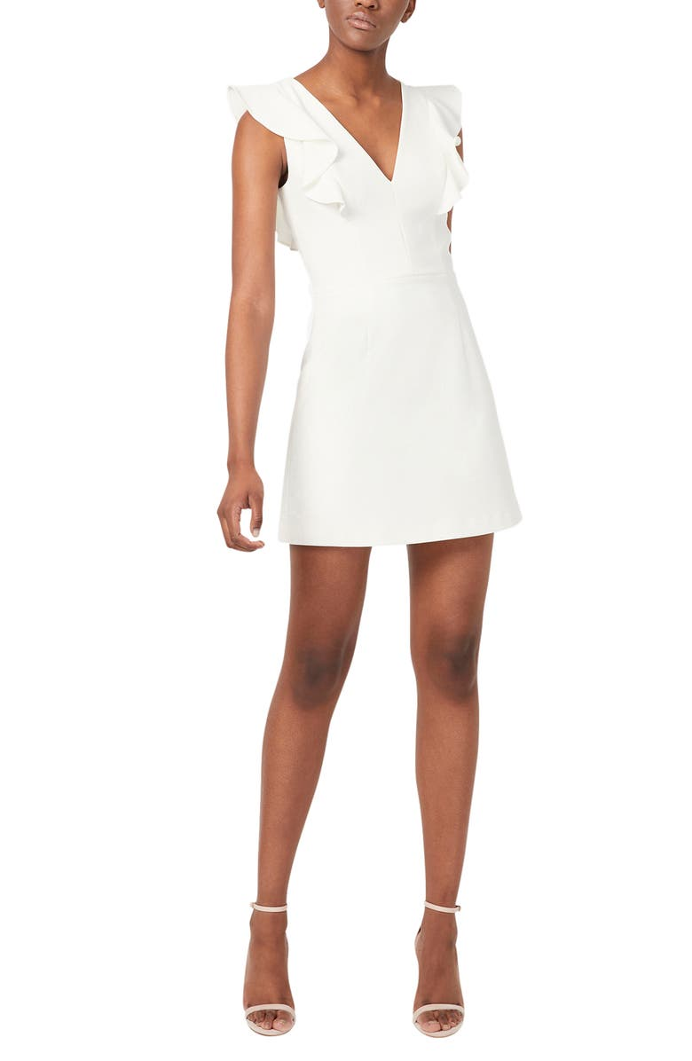 FRENCH CONNECTION Whisper Ruffle Minidress, Main, color, SUMMER WHITE
