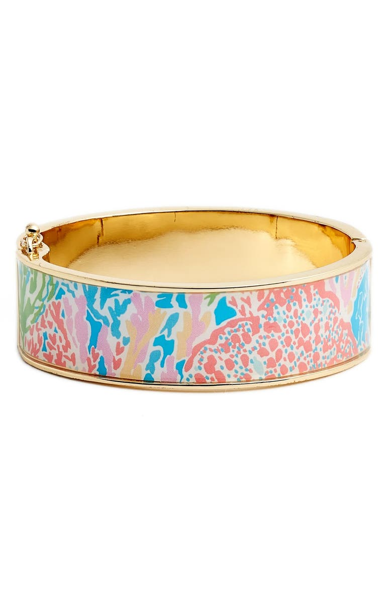 LILLY PULITZER<SUP>®</SUP> 'Boca' Print Bangle, Main, color, TURQUOISE