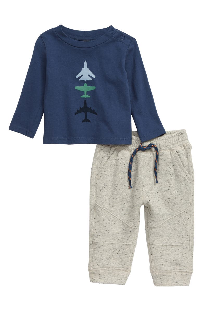 TUCKER + TATE Airplane Graphic T-Shirt & Jogger Pants Set, Main, color, 410