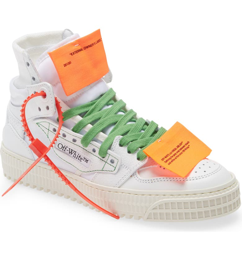 OFF-WHITE Off Court 3.0 High Top Sneaker, Main, color, WHITE AVANA