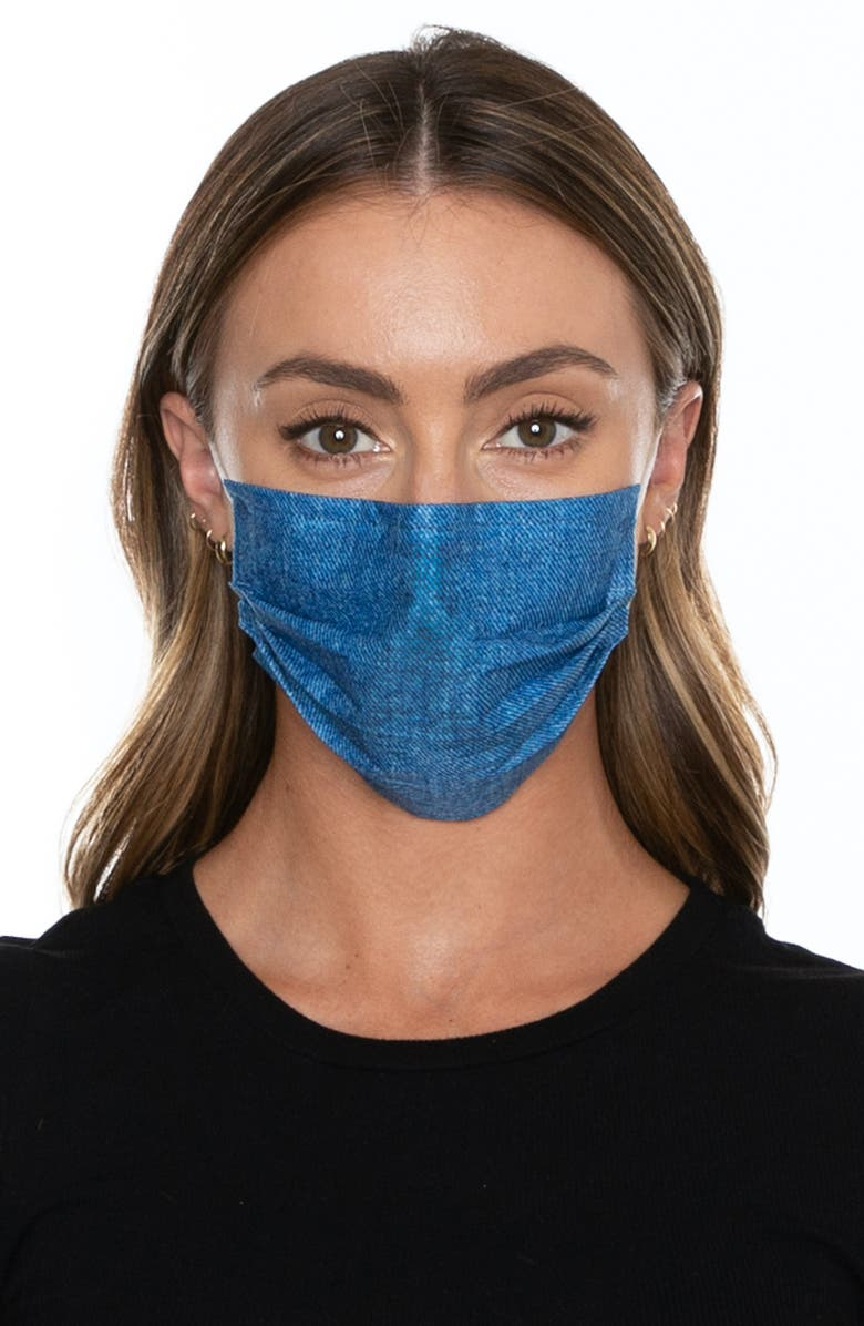 MEDIPOP 5-Pack Adult Disposable Print Pleated Face Masks, Main, color, 400
