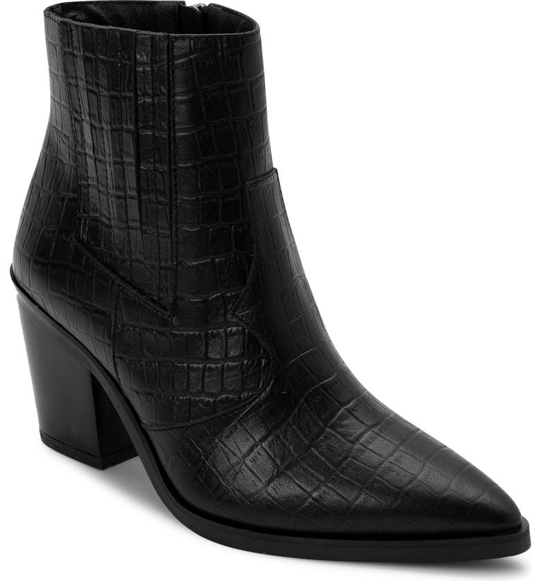 BLONDO Que Waterproof Bootie, Main, color, BLACK LEATHER