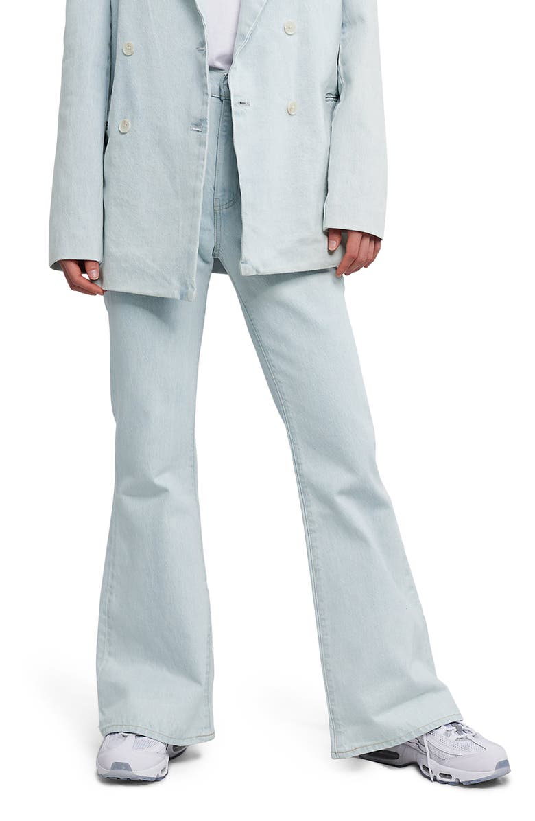 LEVIS Made & Crafted<sup>™</sup> High Waist Organic Cotton Flare Jeans, Main, color, FRESHIES
