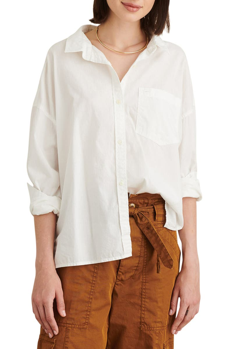 ALEX MILL Detachable Collar Oversize Shirt, Main, color, 100