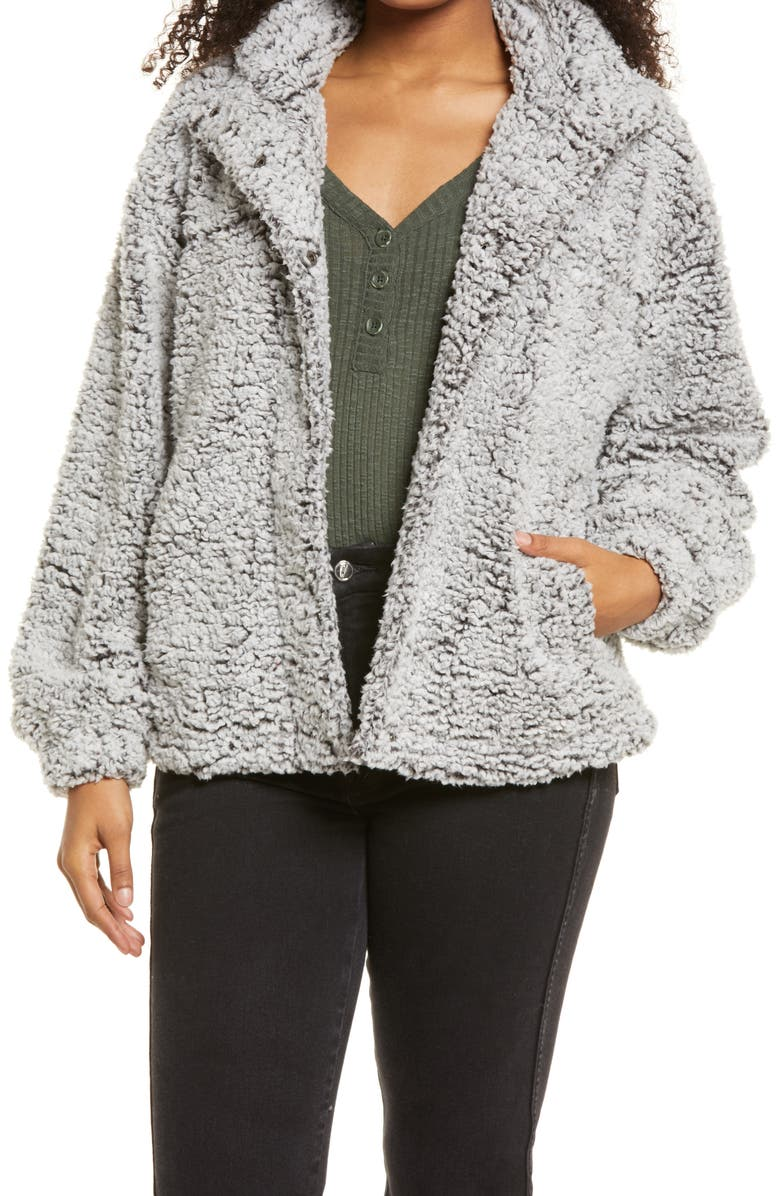 THREAD & SUPPLY Wubby Jacket, Main, color, FROSTED CHARCOAL