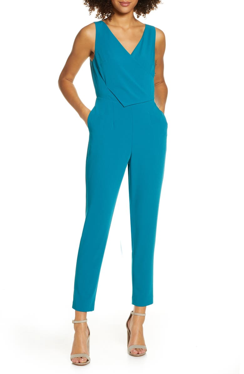 ALI & JAY Sleeveless Slim Leg Asymmetrical Jumpsuit, Main, color, 440