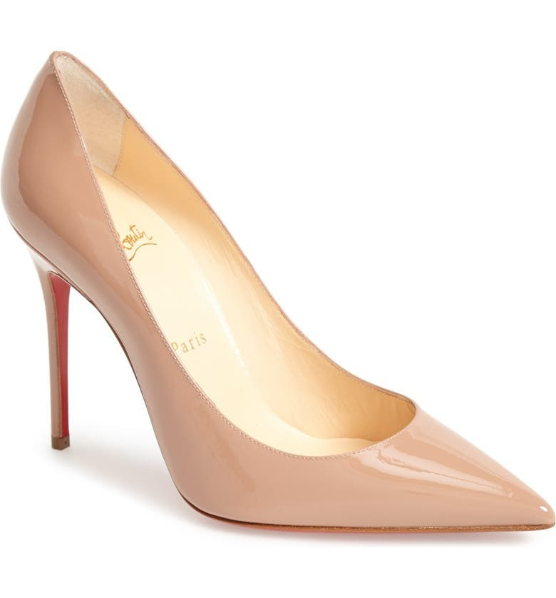 CHRISTIAN LOUBOUTIN Pointed Toe Pump, Main, color, NUDE