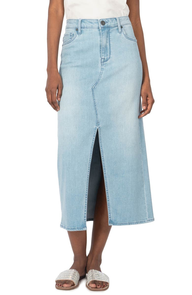 KUT FROM THE KLOTH Rosie Denim Skirt, Main, color, CLASSIFIED