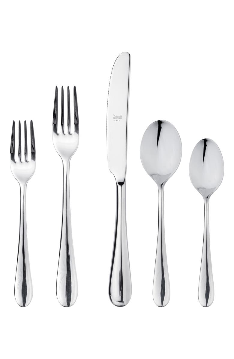 MEPRA Natura 5-Piece Place Setting, Main, color, STAINLESS SHINY