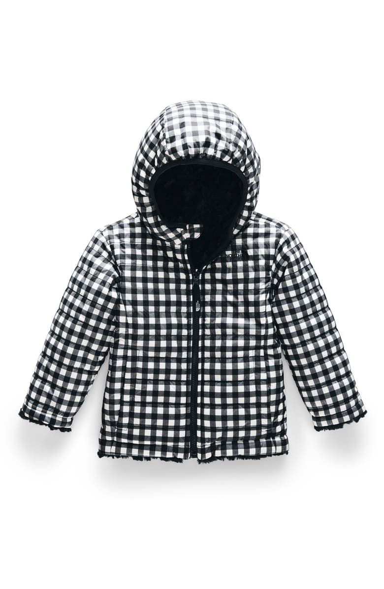 THE NORTH FACE Kids' Mossbud Swirl Reversible Water Repellent Heatseeker<sup>™</sup> Jacket, Main, color, 002
