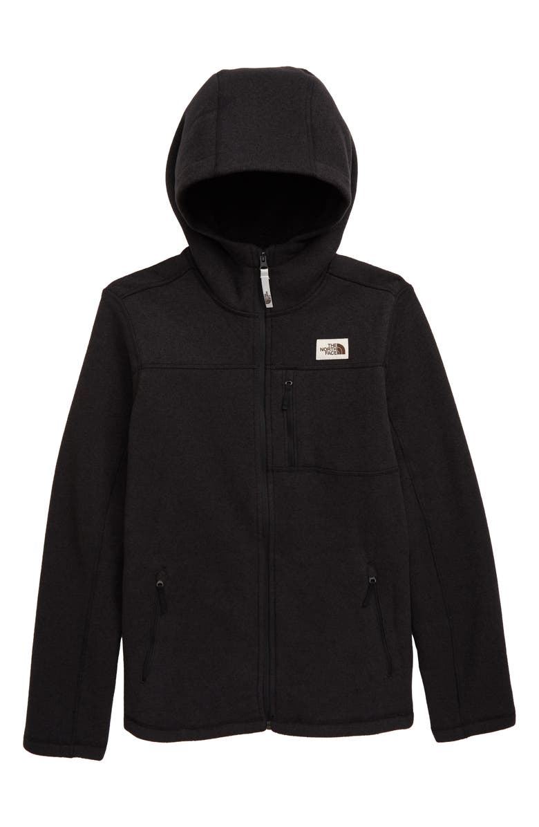 THE NORTH FACE Gordon Lyons Fleece Hooded Zip Jacket, Main, color, 001