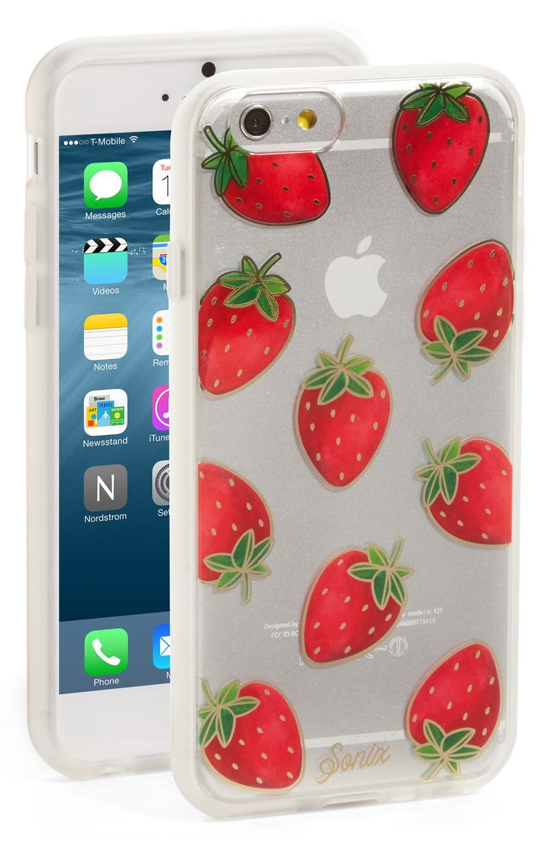 SONIX 'Strawberries' iPhone 6 & 6s Case, Main, color, RED