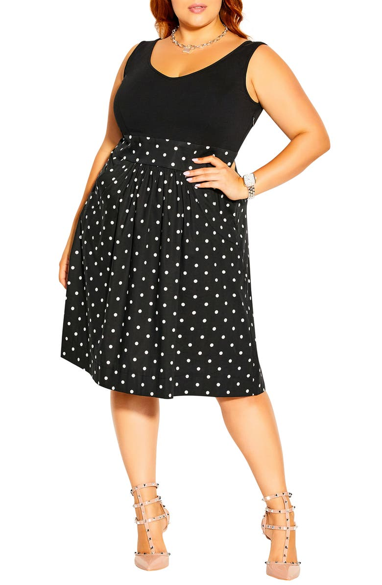 CITY CHIC Simply Sweet Dress, Main, color, SWEET SPOT