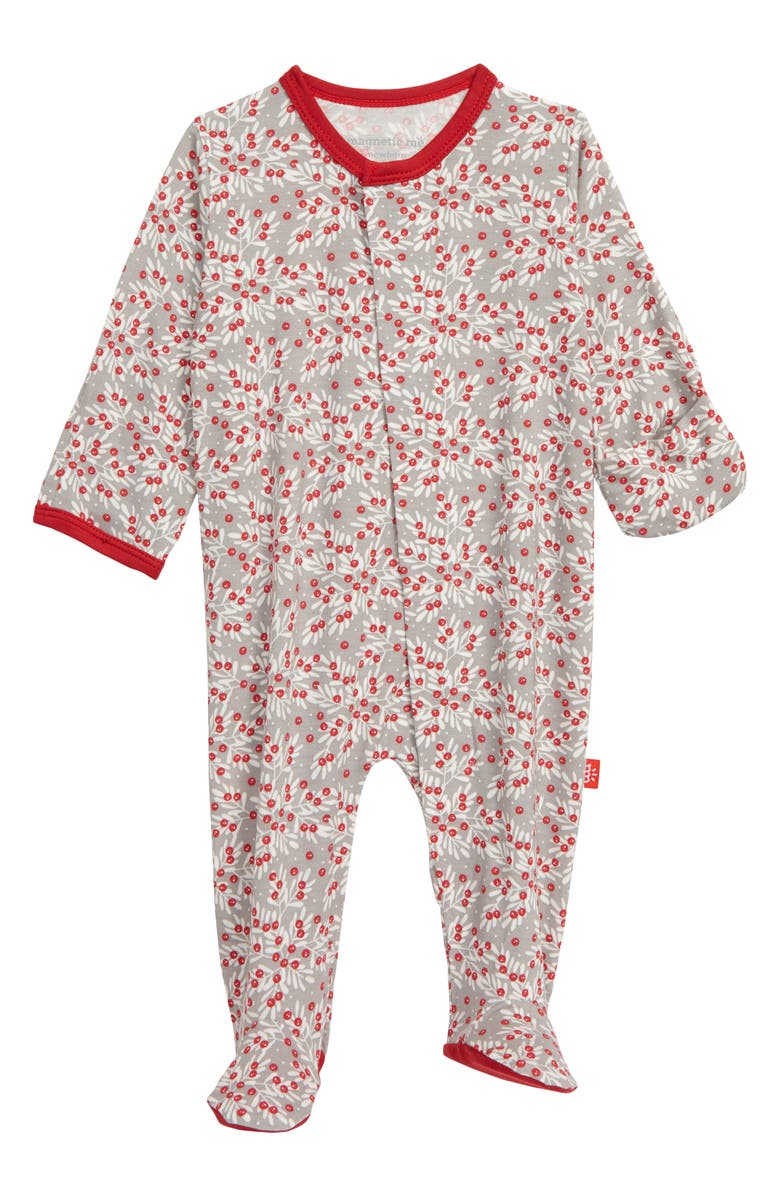 MAGNETIC ME Berry Holly Day Footie, Main, color, 600