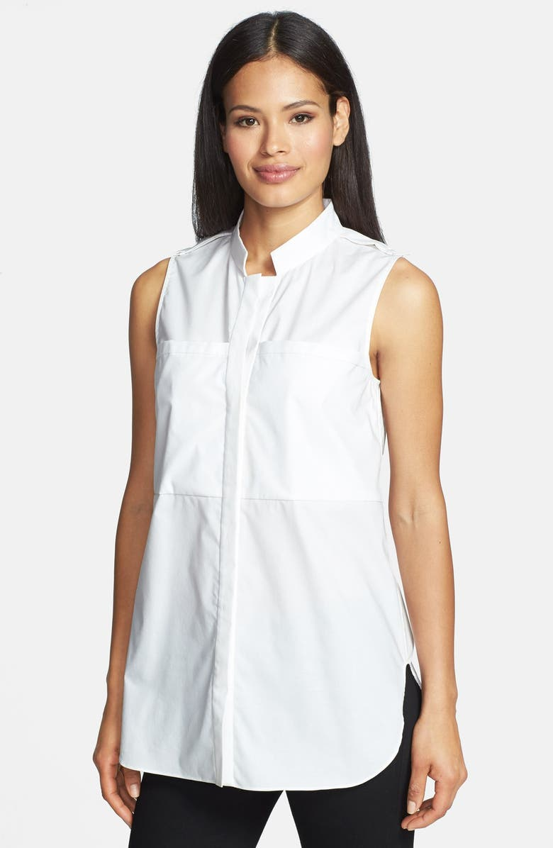 ZZDNU RACHEL RACHEL ROY Rachel Roy Sleeveless Poplin Tunic Shirt, Main, color, 100