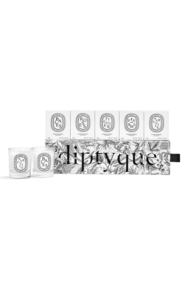 DIPTYQUE Set of 5 Travel Size Limited Edition Scented Candles, Main, color, NO COLOR