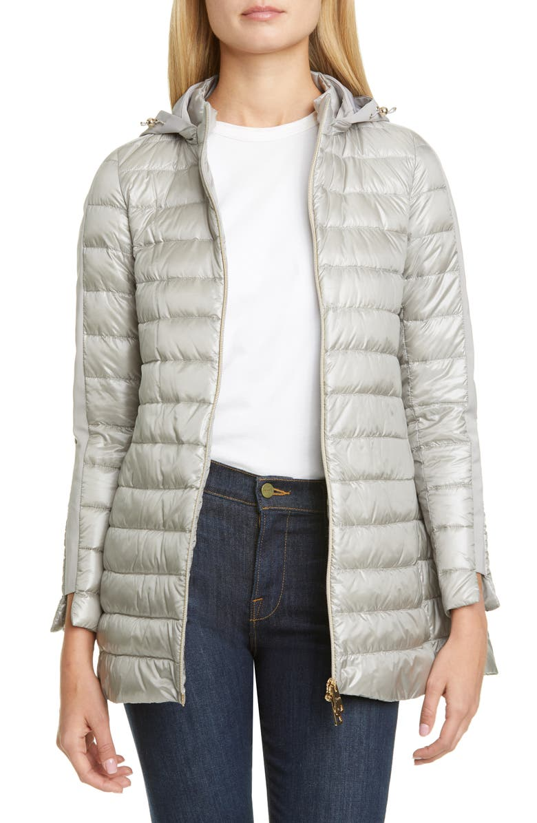 HERNO High/Low Down Puffer Coat, Main, color, 020